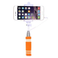 Mini Wired Extendable Foldable Stainless Selfie Stick Monopod Self-pole For iPhone Sony HTC LG Samsung Nokia Android Smartphone
