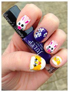 #nailart #Easter #nails loving my fun Easter nail design!