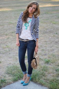 Stripes and lace