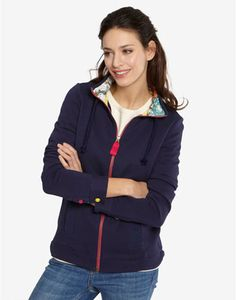 7f66359daa4d Joules NEWLYN Womens Full Zip Sweatshirt, Navy. We know only too well that  the