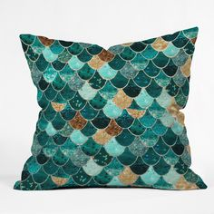 Monika Strigel Really Mermaid Throw Pillow | DENY Designs Home Accessories | I adore this print
