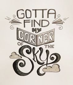 Black Sheep Illustration Blog: I WANT Songs - Corner of the Sky