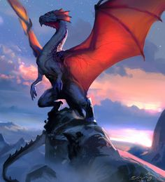Weave Your Own Kind Of Magic With Mythical Animal Art - Fantasy creatures - Magical Creatures, Fantasy Creatures, Fantasy World, Fantasy Art, Rpg Cyberpunk, Desenhos Love, Cool Dragons, Dragon Artwork, Dragon Drawings