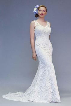White Rose R828 Paris Cafe Satin With Ivory Lace Bias Cut Wedding Dress