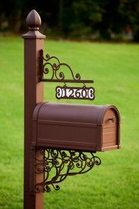 Decorative Mailboxes | Personalized decorative mailbox and post with custom address plaque, 4 ...