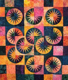 Desert Sky ~ Quiltworx.com by Certified Instructor, Linda Tellesbo