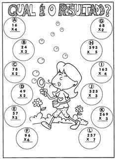 37 Atividades Educativas de Multiplicação 37 Atividades Educativas de Multiplicação para 2º e 3º ano do Ensino Fundamental 1. Atividades de matemática para imprimir. Atividades de multiplicação. Tabuada, cruzadinhas, caça-produtos, e muito mais.... Math Multiplication Worksheets, Math Coloring Worksheets, Addition And Subtraction Worksheets, Kindergarten Math Worksheets, Learning Time, Kids Learning, Math Charts, Math School, Math For Kids