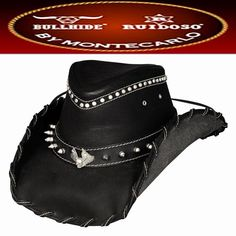 Montecarlo Hats - IRON ROAD - Top Grain LEATHER Western Cowboy Hat