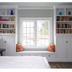 built ins & window seat - office