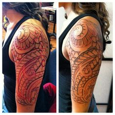 Polynesian Half Sleeve Tattoo 218