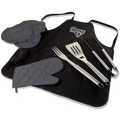 Los Angeles Rams BBQ Apron, Grill Tools & Tote