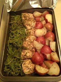 Easy chicken and vegetables bake