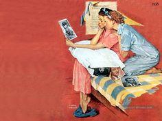 Norman Rockwell Paintings Gallery in Chronological Order Norman Rockwell Prints, Norman Rockwell Paintings, Best Painting Ever, Peintures Norman Rockwell, Saturday Evening Post, Retro Caravan, Painting Gallery, Art Database, Vintage Artwork