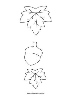 Leaf and Acorn Template Harvest Crafts For Kids, Autumn Crafts, Fall Crafts For Kids, Art For Kids, Felt Crafts, Diy And Crafts, Arts And Crafts, Paper Crafts, Fall Classroom Decorations