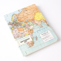 Vintage Maps Notebook (Set of 2) by Cavallini & Co.