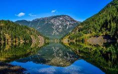 Download wallpapers Diablo Lake, North Cascade mountains, mountain lake, mountain landscape, Washington, USA