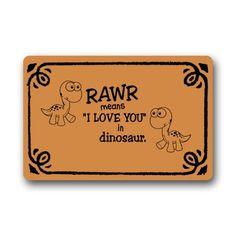 Non-Slip Rectangle Funny Quotes On Fleek Rawr Means I Lov...