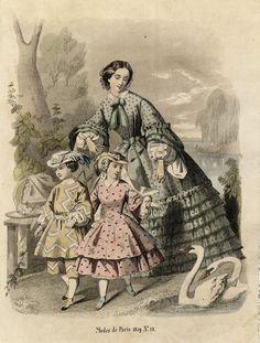 Fashion Plate: Penelope: Nyaste journal för damer 1859 | In the Swan's Shadow