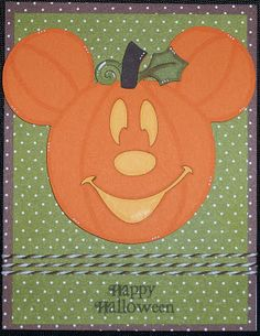 oh my goodness ... this Mickey Mouse pumpkin head is just adorable