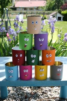 Cup Holder and Some Other Fun Games with Wooden Drilling - DIY Discovers Kids Crafts, Tin Can Crafts, Diy And Crafts, Diy Halloween Decorations, Halloween Diy, Summertime Pictures, Fete Ideas, Backyard Games, Garden Crafts