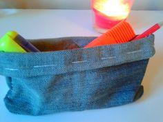 Samodzielnie wykonany piórnik ze starych jeansów chwila pracy masa radości :)