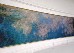 Musee De l'orangerie, Paris. Home of Monet's amazing water lily paintings. Absolutely beautiful!