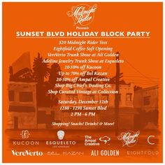 Sunset Blvd Block Party!