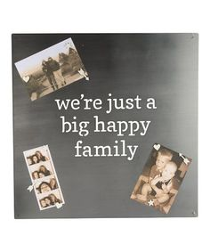 'Big Happy Family' Magnet Board Wall Sign #zulily #zulilyfinds