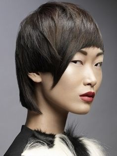 short asian women hairstyle