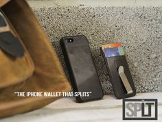 The iPhone SPLIT 'case and wallet' ... I only wish it wasn't leather, but it's a cool idea.
