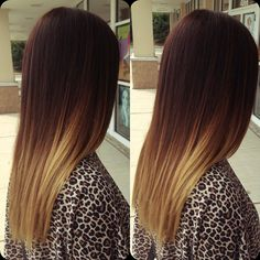 Get ideas for hair color highlights, lowlights, balayage, and ombre; best highlight colours for dark hair; the price of getting hair color highlights. Diy Ombre Hair, Ombre Hair Color, Cool Hair Color, Hair Colors, Ombre Style, Unique Hairstyles, Straight Hairstyles, Hairstyles Haircuts, Onbre Hair