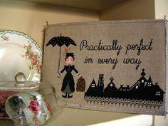 shes Mary Poppins wonderful and elegant embroidered with elegant black color. cross-stitch scheme count stitch 214 x 122 cross stitch lilli violette Cross Stitch Charts, Cross Stitch Designs, Cross Stitch Patterns, Mary Poppins, Cross Stitching, Cross Stitch Embroidery, Cross Stitch Finishing, Disney Crafts, Disney Fun
