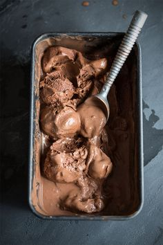 3 ingredient, no churn, vegan chocolate ice cream