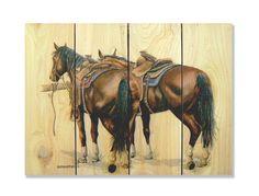 Signature 1 Saddle Up Full Color Cedar Wall Art