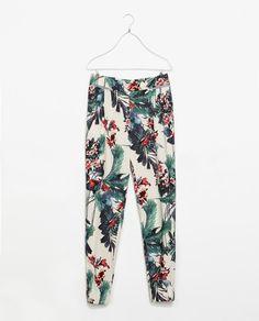 Zara Printed Trousers