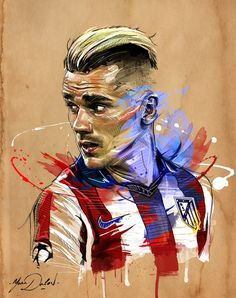 Antoine Griezmann – Atlético Madrid – ❼ – jamie – Join the world of pin Antoine Griezmann, Art Football, Soccer Art, Soccer Sports, Neymar Football, Madrid Football, Football Design, Soccer Drawing, Sports Graphics