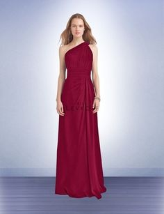 Bridesmaid Dress Style 1118 - Bridesmaid Dresses by Bill Levkoff Cranberry Bridesmaid Dresses, Teal Bridesmaid Dresses, Prom Dresses, Formal Dresses, Wedding Dresses, Bridesmaids, One Shoulder Gown, Pleated Bodice, Strapless Dress Formal