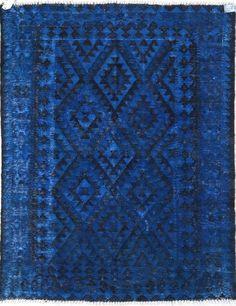 Overdye Sapphire Blue Rug | Contemporary Rugs