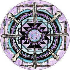 dark moon / shaman's moon - Spirit de La Lune Oracle deck coming soon! Moondaughter and Treetalker Art