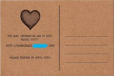 6a00e554ee8a2288330115718e3212970b 500wi Telegram Postcard Wedding Invitations.  Love the whole idea.  Have their website listed for more information and RSVPS.  Perfect