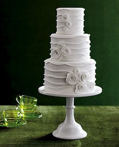 Wedding, Cake, White, Modern