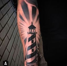 Forearm Lighthouse Tattoo by The Black Pearl