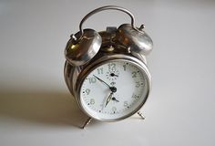 SILVER alarm clock INSA made in Yugoslavia / by theoldrooster