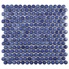 "Found it at AllModern - Penny 0.8"" x 0.8"" Porcelain Mosaic Tile in Sapphire"