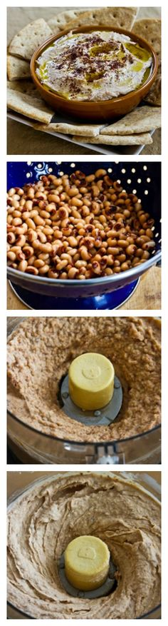 Black-Eyed Pea Hummus with Olive Oil and Sumac is delicious and black-eyed peas are perfect to eat for good luck in the new year!  [from KalynsKitchen.com] #NewYear