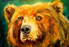 ARTOUTWEST SOUL BEAR ANIMAL ART WILDLIFE BY Diane Whitehead, painting by artist Diane Whitehead