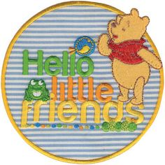 Wrights Disney Winnie The Pooh Iron-On Applique Hello Little Friends