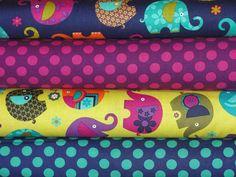 Elephant Romp by Michael Miller Fabrics Full by fancypantsfabric, $34.00