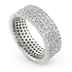 Bentley Diamond - Pave Eternity Band in 18kt White Gold