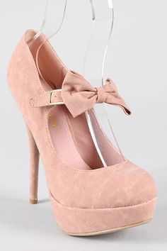 So cheap! Liliana Aaliyah Bow Mary Jane Stiletto Pump